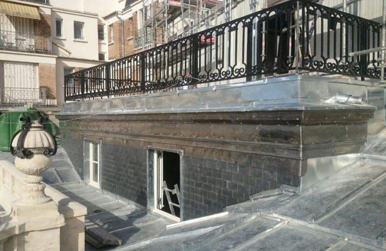 rénovation balcon, fenêtres de toit et toiture zinc _ Paris